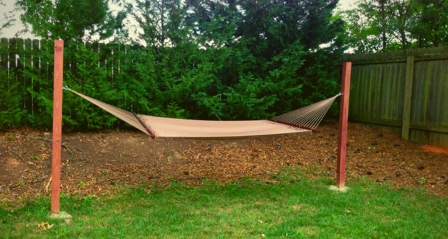 hammock camping without trees