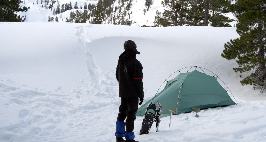 Winter camping tent insulation