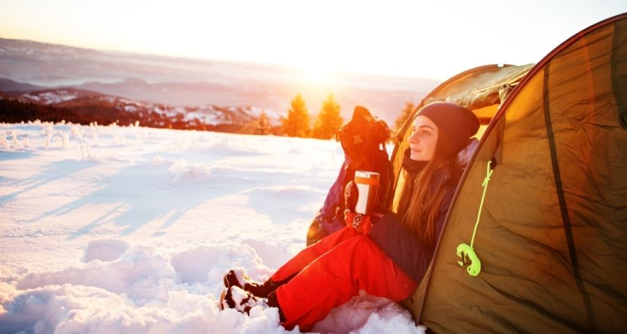 How to warm your tent for winter camping