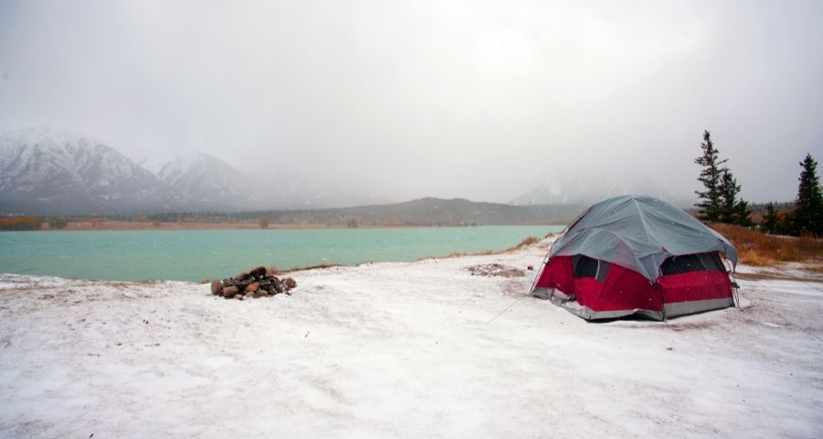 heat your tent during winter camping