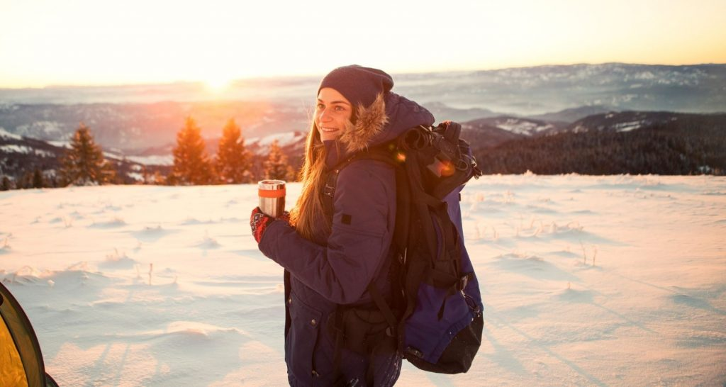 chose the right size clothes for winter camping
