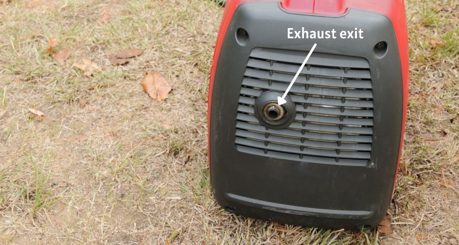 Change the position of exhaust exit to quiet generator