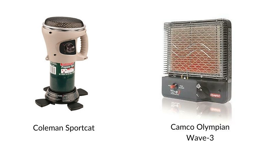 Are catalytic heaters safe in tents