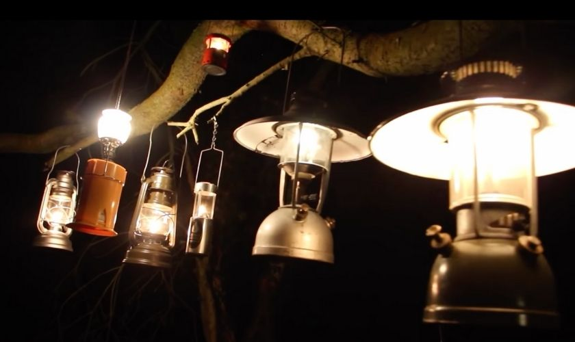 use lanterns during fire restriction when camping