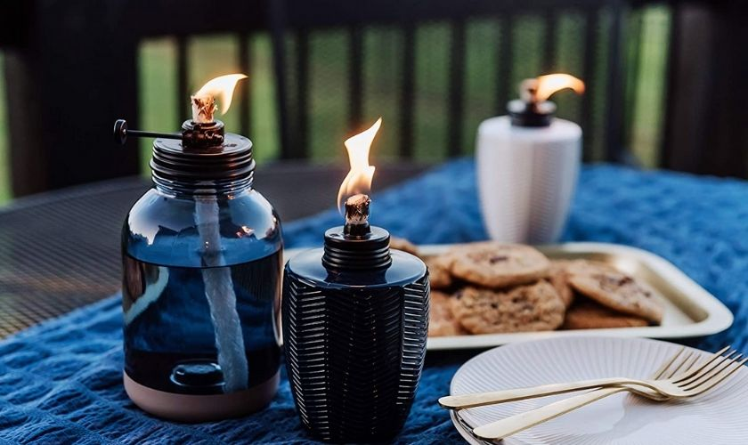Tiki torch can also be used as an alternative to campfire